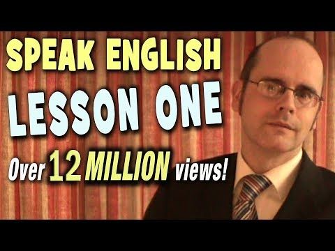 Learning English  -  Lesson One  (introduction) video