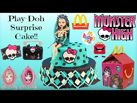 Monster High Play Doh Surprise Cake - 2015 McDonalds Happy Meal Toys  Monster High