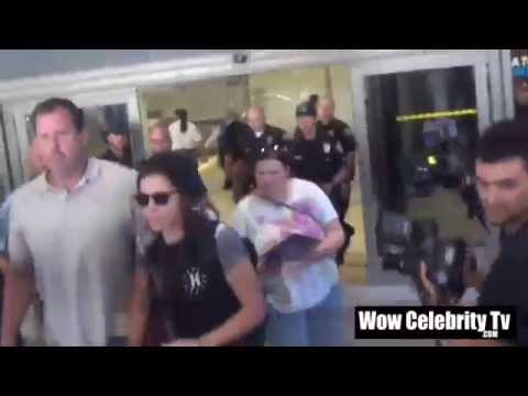 Katy Perry Lands at LAX Airport