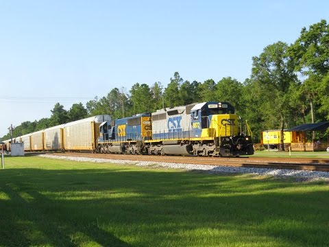 A Great Railfanning Experience At Folkston, GA! With CSX 699, UP & 454!