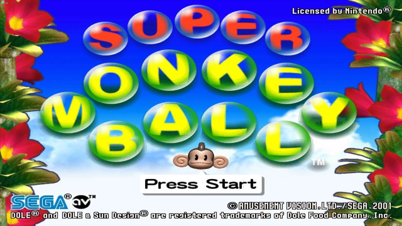 Gamecube Monkey Ball Super Monkey Ball Gamecube