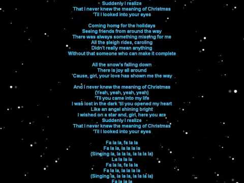 Video Lyrics - I Never Knew The Meaning Of Christmas by N'Sync