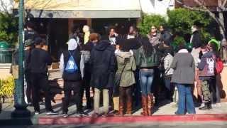 Black Brunch group near 4th Street in Berkeley, CA (1/3/15)