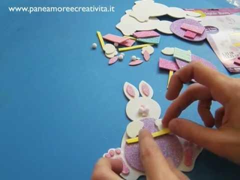 Lavoretti di pasqua come fare un coniglietto youtube - Lettere stampabili del coniglietto di pasqua ...
