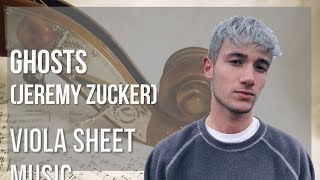 EASY Viola Sheet Music: How to play Ghosts by Jeremy Zucker