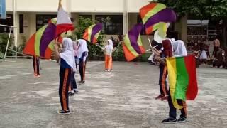 SDN Rengas - Latihan Marching Band Meskipun Gerimis Tetap Semangat