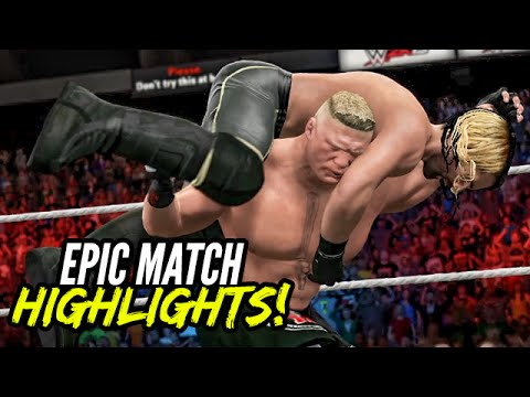 Battleground 2015 Brock Lesnar vs. Seth Rollins (c) | Epic Match Highlights