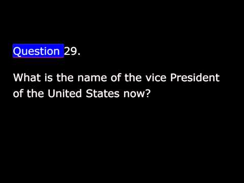 United States Citizenship Test   Civics   2   Questions 13 To 40