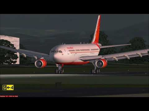 Approach and Landing at Kathmandu Air India Airbus A330-300 GE