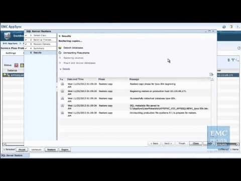 Full database recovery of SQL Server 2012 enabled by EMC Next Generation VNX and AppSync