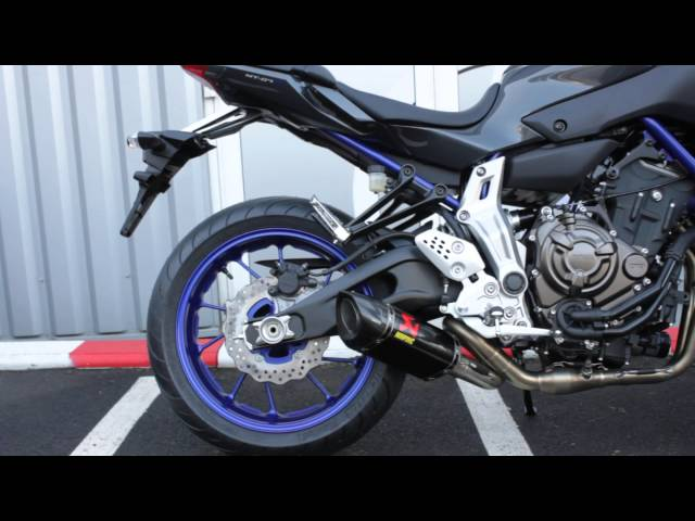 YAMAHA MT-07 Akrapovic Carbon Racing Line Exhaust system - Planet Racing Rouen