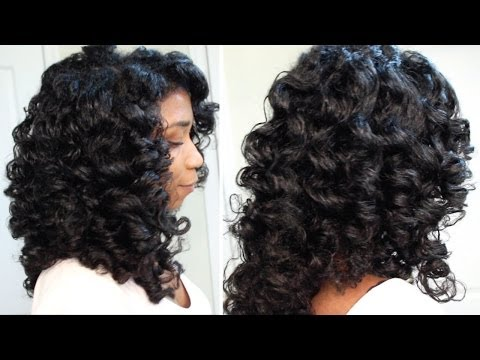 How To Cheat A Perm Rod Set | EASY Technique Heatless Soft Curls Naptural85 Natural Hair