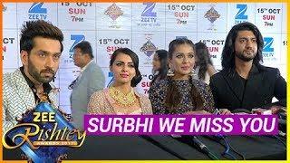 Nakuul Mehta And Ishqbaaz Team Misses Surbhi Chandna And Leneesh Matoo | Zee Rishtey Awards 2017