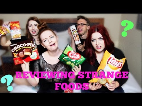 REVIEWING STRANGE FOODS FT. #CHRACHEL & BEAUTYBABY44