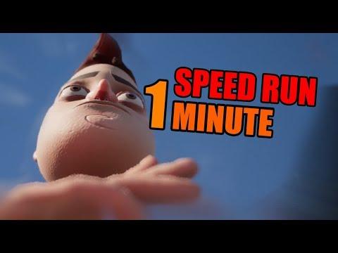 Hello Neighbor Act 2 Speedrun [1 MINUTE]