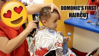 DOMONIC'S FIRST HAIRCUT!!!! *BIG BOY STATUS*