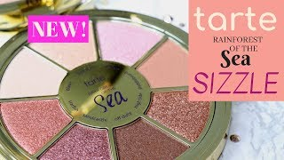 TARTE Rainforest of the Sea SIZZLE Eyeshadow Palette - Swatches, Review, Trying on NEW Makeup! GRWM