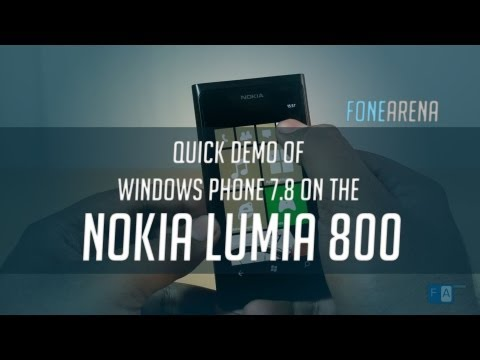 Windows Phone 7.8 on the Nokia Lumia 800