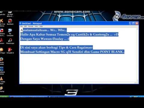 Cara Membuat Settingan SG Sendiri Macro X7 Point Blank