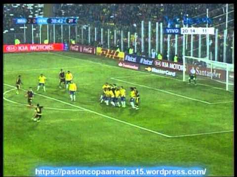 (Relato Emocionante) Brasil 2 Venezuela 1 (Futbol al Reves)   Copa America 2015