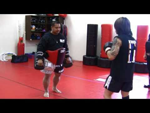 KRU Muay Thai Pad Lesson Pt. 1