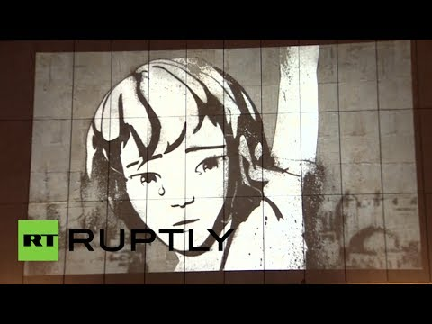 #WithSyria: Banksy art displayed on Moscow gallery wall