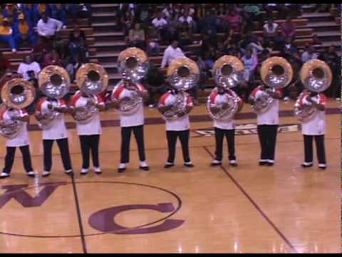 The tuba section from Virginia State University known as Horsepower performed their fanfare Blackberry Hotel during the Warren County Battle of the Bands in ...