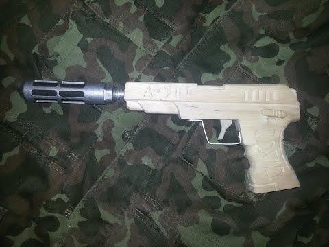 Как сделать пистолет Кольт Wooden gun DIY