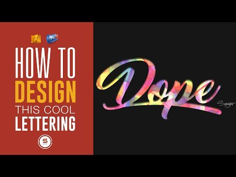 DOPE LETTERING TEXT EFFECT TUTORIAL - Illustrator Tutorial
