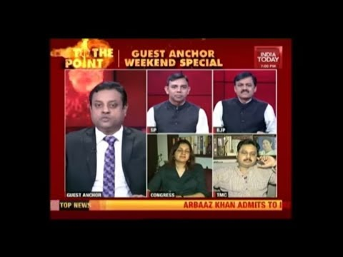 Sambit Patra On India Today Anchor Seat  | Is The United Opposition A Real Challenge To Modi ? |