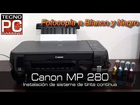 Instalar un sistema de tinta en una impresora canon