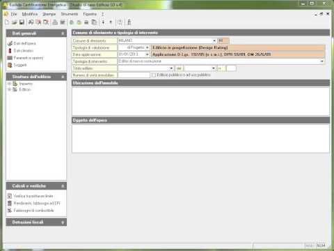 01. Euclide Certificazione Energetica - Interfaccia d'uso