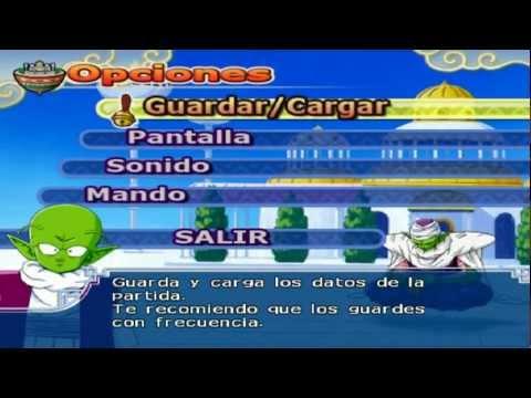Dragon Ball Z Budokai Tenkaichi 3 Version Latino * Menú Opciones (Dende)* HD