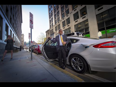 President Suresh Takes Ride in Uber Driverless Car