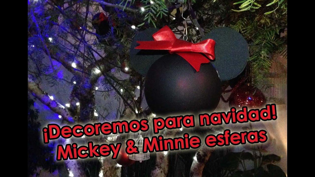 Diy mickey minnie esferas decoremos para navidad - Esferas de navidad ...