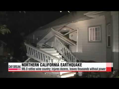 M6.0 Northern California earthquake triggers state of emergency 캘리포니아 지진피해 나파애 '비상사태' 선포