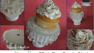 How to Make CD and Glass Cupcake Stands by Tiffany Windsor