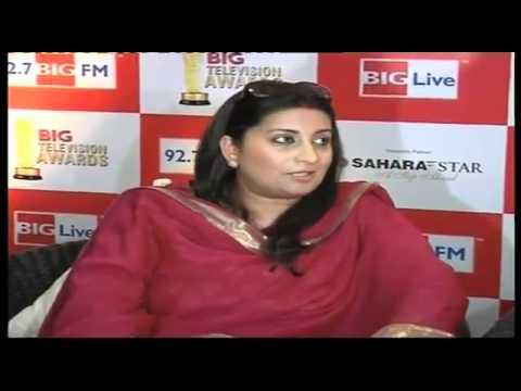 Smriti Irani and Sachin Television Awards Launch