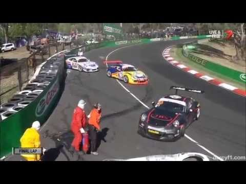 Last Lap Pile Up @ 2014 Porsche Carrera Cup Bathurst Race 3
