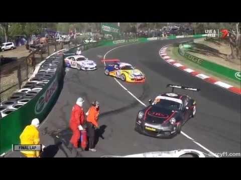 Last Lap Pile Up @ 2014 Porsche Carrera Cup Bathurst Race 3