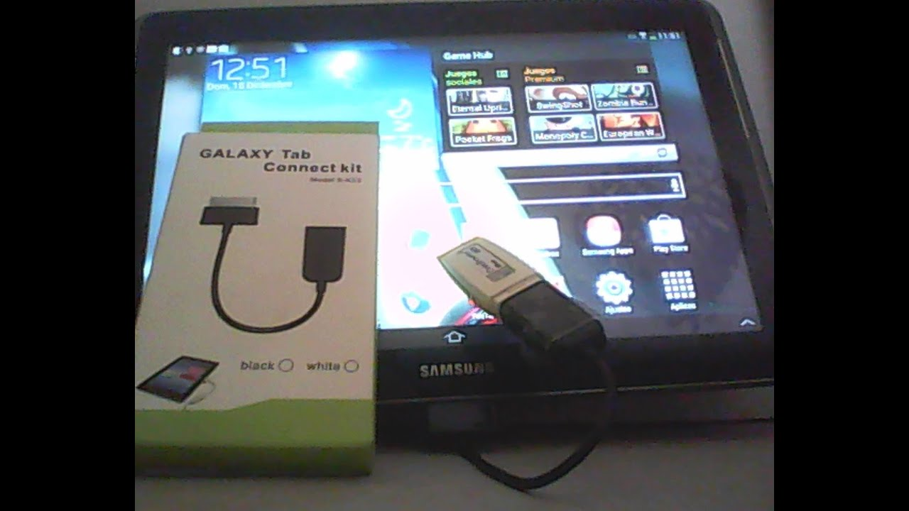 Connect Tablet To Tv >> Conectar a tu Tablet android un dispositivo externo(USB Pendrive.Galaxy Tab Connect Kit) - YouTube