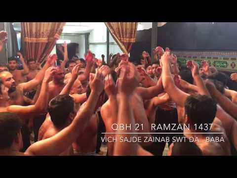 MATAMI SANGAT QBH 21 RAMZAN 1437/2016 PART 1