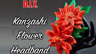 Download D.I.Y. New Petal   Kanzashi Flower Headband   MyInDulzens 3Gp Mp4