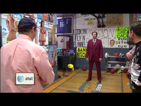 Ron Burgundy (Will Ferrell) plays Flinch Ball on the Dan Patrick Show