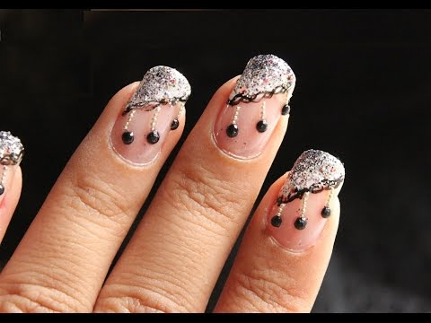 Lace & Hanging Pearls ♥ Cute Nail Art Designs - Easy Lace Nail Designs For Beginners video