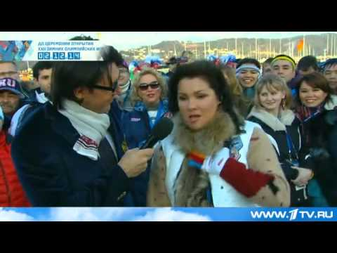 Anna Netrebko in Sochi - two hours before the Olympics Opening Ceremony