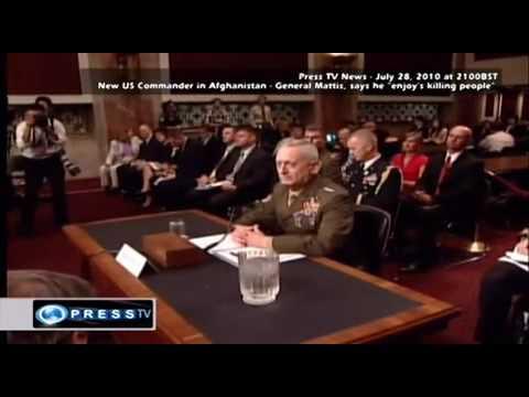 "New US Commander In Afghanistan General Mattis ""Enjoys Killing People"""