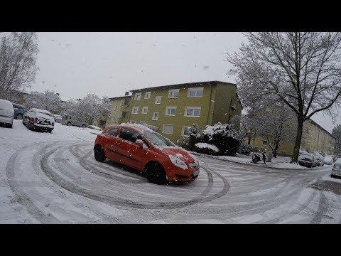 Дрифт,Снегопад в Германии