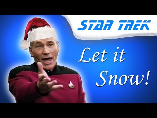 "play video: Captain Picard sings ""Let it Snow!"""