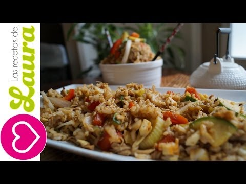 Receta de Arroz Chino ¡sin freír! ♥ Low fat Chinese Rice